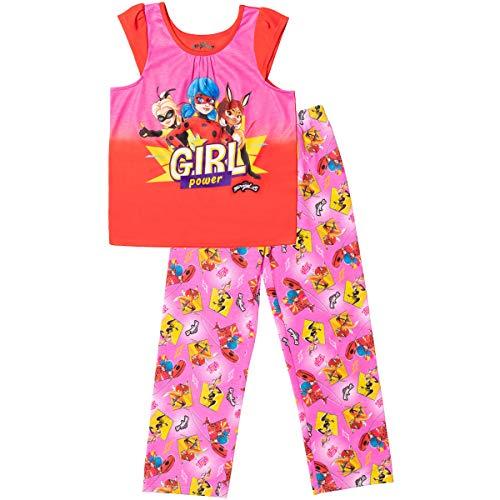 Miraculous Ladybug Cat Noir Rena Rouge Big Girls Pajama Pant Set Red 10-12