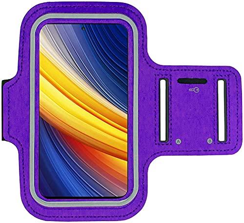 KP TECHNOLOGY Xiaomi Poco X3 Pro Brazalete Case - Para Correr, Ciclismo, Senderismo, Piragüismo, Caminata, Equitación y otros Deportes para Xiaomi Poco X3 Pro (PURPLE)