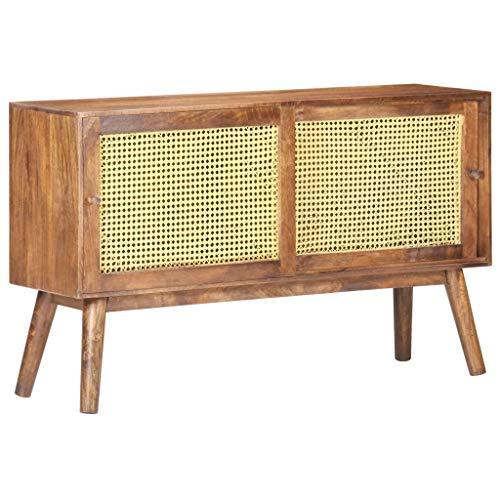 Anrichte Sideboard Mehrzweckschrank Highboard Schubladenkommode Flurschrank, für Diele, Wohnzimmer Esszimmer Diele, Flur, 112x30x65 cm Mango Massivholz