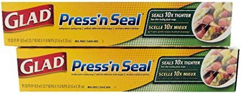 Envío y cambio gratis. Glad Press 'n Seal Wrap Wrap Wrap (2-Pack, 70 sq. ft. each - Total 140 sq. ft.) by Glad  Precio al por mayor y calidad confiable.