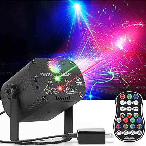 Party Lights, Dj Disco Lights, RGB 3 Lens DJ Strobe Light Sound Activated Projector for Christmas Halloween Decorations Gift Birthday Wedding Karaoke KTV Bar (Background Version)
