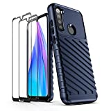 AIFIVE Case for Xiaomi Redmi Note 8T with Tempered Glass