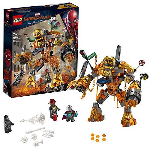 LEGO 76128 Marvel Spider-Man - Far From Home Duell mit Molten Man, Bauset