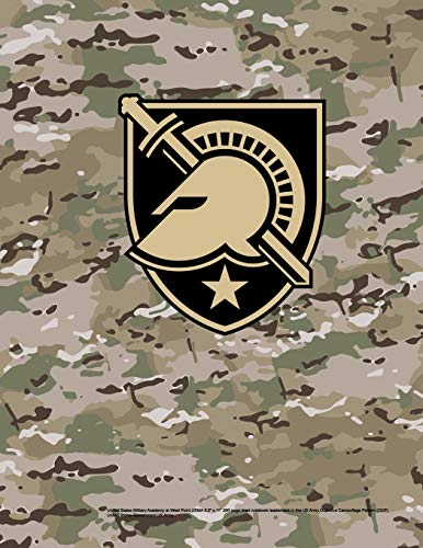 """United States Military Academy at West Point USMA 8.5\"""" x 11\"""" 200 page lined notebook leaderbook in the US Army Objective Camouflage Pattern (OCP)"""