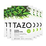 Tazo China Green Tips Green Tea, 20 Count (Pack of