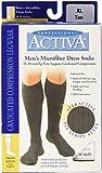 Activa Men's 20-30 mmHg Microfiber Dress Socks, Tan, X-Large