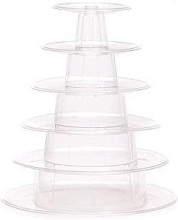 Candora 6 Tiers Round Macaron Tower Cake Stand dessert Display Rack for Wedding Birthday