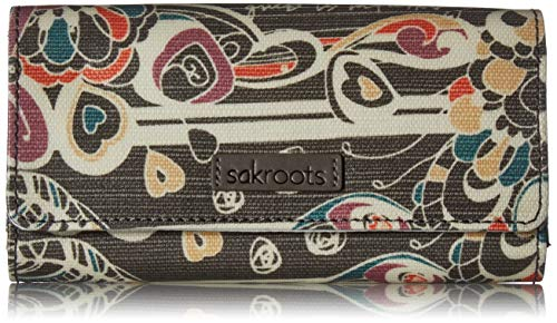 Sakroots womens Women's Artist Circle wallets, Shadow Songbird, One Size US