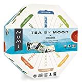 hexagonal box with mood teas, and each tea represented by a different color