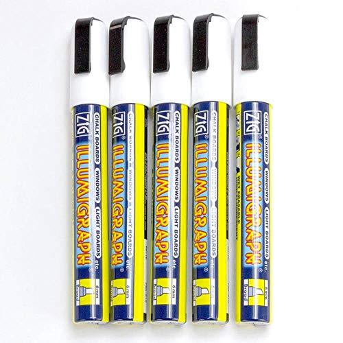 Feder: 15 x 30mm. 30mm Line White Platz-Punkt-Markierung Zig Illumigraph Biggie