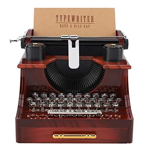 Unbekannt Schreibmaschine Stil Spieluhr, Vintage Schreibmaschine Stil Mechanische Spieluhr Geschenk Schmuckschatulle mit Schublade Spieluhr mit Schublade