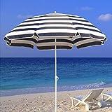 Lucear Beach Umbrella Sun Shelter with Sand Anchor&Tilt, Portable UV 50+ Protection,Fiberglass Ribs, Telescopic Pole, Windproof Canopy