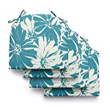 LOVTEX Patio Indoor Outdoor Furniture Cushions Water-Resistant Chaise Lounge Chair Bench Cushions Daisy Round Corner Seat Cushions 4 Pieces