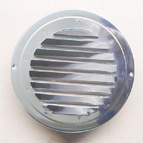 Rejilla de ventilación circular de acero inoxidable para rejilla de ventilación de ventilación, ventilador extractor de conducto de ventilador de baño (80 mm/100 mm/120 mm para tijera)