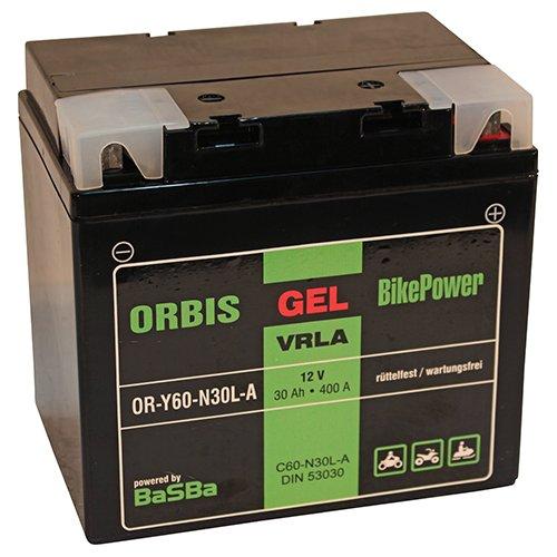 Preisvergleich Produktbild Orbis Gel53030 Motorradbatterie - C60-N30L-A 53030 12 Volt 30 Ah 400 A