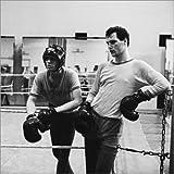 Leinwandbild 40 x 40 cm: Henry Maske und Ingo Benske beim Boxtraining in Frankfurt/Oder von Manfred Uhlenhut/ddrbildarchiv.de - fertiges Wandbild, Bild auf...