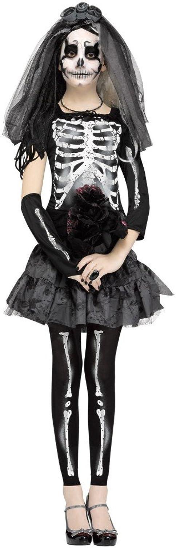 Skeleton Bride Costume for Girls
