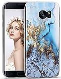 Galaxy S7 Edge Case, ImikokoTM S7 Edge Marble Case Slim