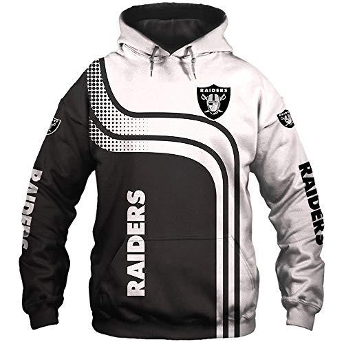 LIULL UnisexHoodie Pullover Raiders NFL Jacke 3D Digital Printing Baseball Uniform Sport Sweatshirt A-M