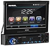 Sound Storm Labs SD726MB Single Din Touchscreen Bluetooth DVD CD MP3 USB SD AMFM Car Stereo 7 Inch Digital LCD Monitor Detachable Front Panel