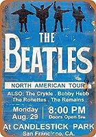 なまけ者雑貨屋[Beatles at Candlestick Park ]メタル ブリキ 看板 アンティーク 壁飾
