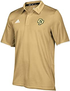 adidas Cal Poly Mustangs NCAA Men's 2018 Sideline Sand Team Iconic Climalite Polo Shirt