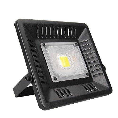 Projecteur LED Extérieur 50W,Spot Extérieur LED en Aluminum 6500K , Éclairage LED Extérieur Solide IP65 Étanche, Équivalent 250W Ampoule Halogène, Grand Angle 120° Éclairage Idéal pour Porte,Jardin,Chantier