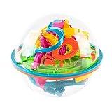 3Dブレインメイズボール バランスゲーム 知育ゲーム 迷路ボール 教育玩具 立体知育玩具 (138 ギミック)