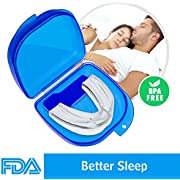 Mouth Guards for Teeth Grinding, 2018 Upgraded Anti Snoring Devices Aid Snore Reducing for Natural and Comfortable Sleep