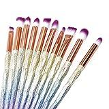 Ogquaton Premium Qualité 10 PCS Coloré Maquillage Pinceau Poudre Blush Fard À Paupières Eyeliner Sourcil Pinceau À Lèvres Cosmétique Outil Kits