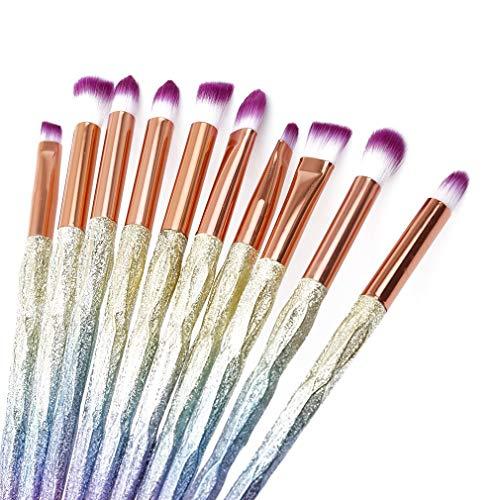 Ogquaton Premium Qualität 10 Stück buntes Make-up Pinsel Puder Blush Lidschatten Augenbrauen Lippenpinsel Kosmetik Werkzeug Set