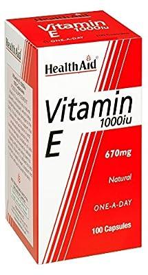 HealthAid Vitamin E 1000iu - 100 Capsules by HealthAid