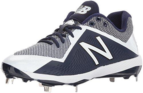 New Balance Men's L4040v4 Metal Baseball Shoe, Navy/White, 5 D US