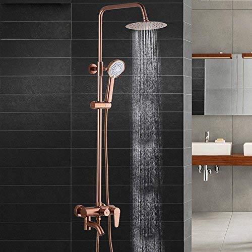 SDKKY-Juego del espacio de la ducha de aluminio, cobre y latòn lluvia...