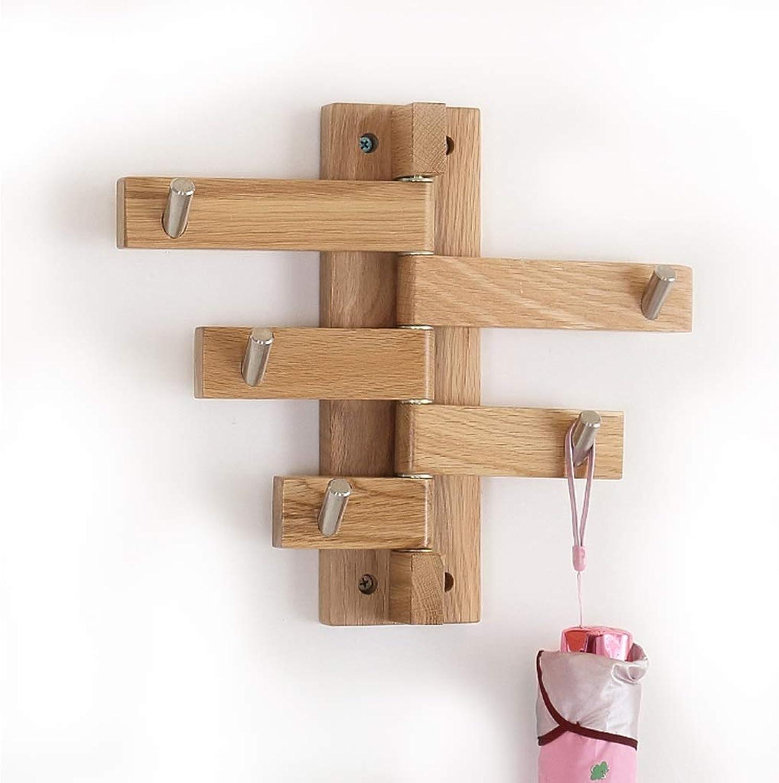 Tischleuchte und dekorative Lampe Kreative Wandhaken Massivholz Garderobe einfache Eiche Wandhalter Massivholz Schlüsselhaken (Farbe   Wood Farbe)