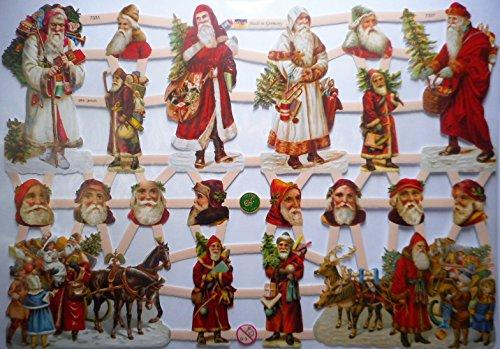 Glanzbilder Weihnachten Weihnachtsmann Rentier EF 7331 Oblate Posiebilder Scrapbook Deko GWI 448