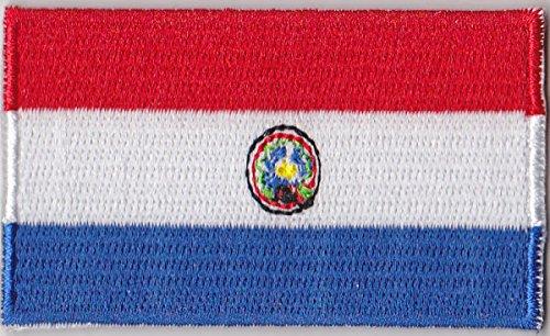 Flaggen Aufnäher Patch Paraguay Fahne Flagge - 6 x 3,5 cm