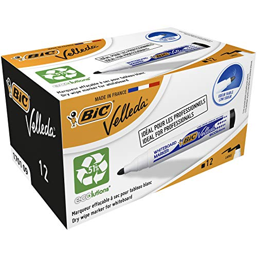 Marcatore per lavagne VELLEDA 1701 Bic - nero - 1.5 mm - 904937 (conf.12)