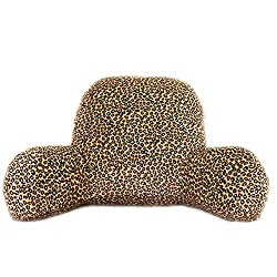 Leopard print reading pillow with arms