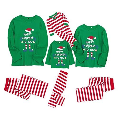 Familie Matching Weihnachten Pyjamas Langarm-Body + Long Pants Nachtwäsche Nachtwäsche for Dad Mom-Kind-Baby (Size : Men (Dad) S)