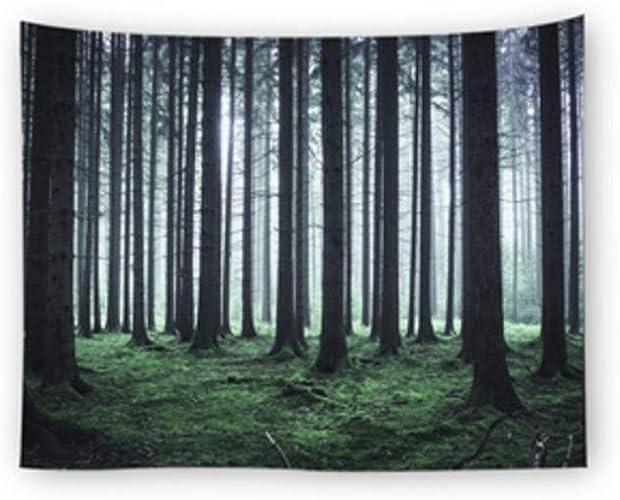 AITU Tapestry Paysage De Forêt Tapisserie Camping Matelas Nappe Yoga Tapis Salon Chambre Tenture Décoration De La Maison