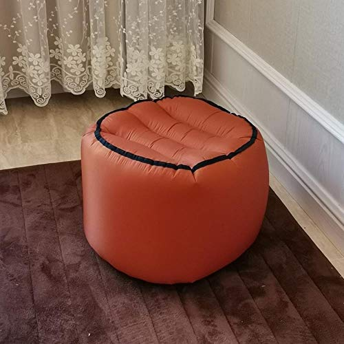 Clkdasjd Aufblasbarer Hocker aus Nylon, faltbar, tragbar eckig orange