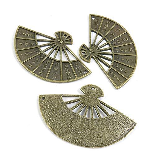 Abalorios de joyería de tono bronce antiguo 972059 abanico plegable para manualidades...