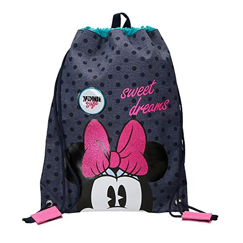 Disney Sweet Dreams Minnie Mochila saco, color Azul