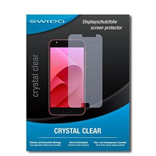 SWIDO Schutzfolie für Asus Zenfone 4 Selfie Pro ZD552KL [2 Stück] Kristall-Klar, Hoher Festigkeitgrad, Schutz vor Öl, Staub & Kratzer/Glasfolie, Bildschirmschutz, Bildschirmschutzfolie, Panzerglas-Folie