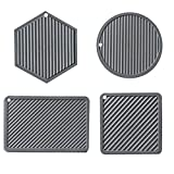 Silicone Trivet Mats Potholder Silicone Hot Pads Insulation Non-Slip Drying Mat Spoon Rest Large Coasters Heat Resistant Mat Thermal Insulation Pads Anti Scalding Mat Silicone Mat Table Mat Pot Mat