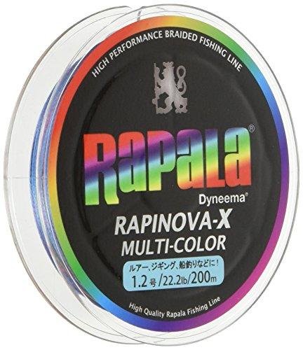 Rapala(ラパラ) PEライン ラピノヴァX マルチカラー 200m 1.2号 22.2lb 4本編み 10m毎に5色分け RXC200M12MC