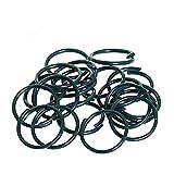 KINGLAKE 150 Stück Pflanzenringe Kunststoff Beschichtet Pflanze Ringe zum Befestigen von Pflanzenstielen oder Blumen an Stützen