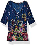 Desigual Top Swimwear Melina Woman Blue Blouse, Bleu (NAVY 5000), Taille XL Femme