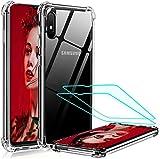 LeYi für Samsung Galaxy A10/M10 Hülle mit Panzerglas